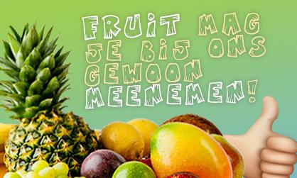 fruit meenemen indoorspeeltuin
